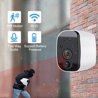 HD 1080P batterie caméra WIFI deux voies Audio caméra Support Lithium batterie sans fil IP caméra Surveillance étanche sécurité|Caméras de surveillance| |  -