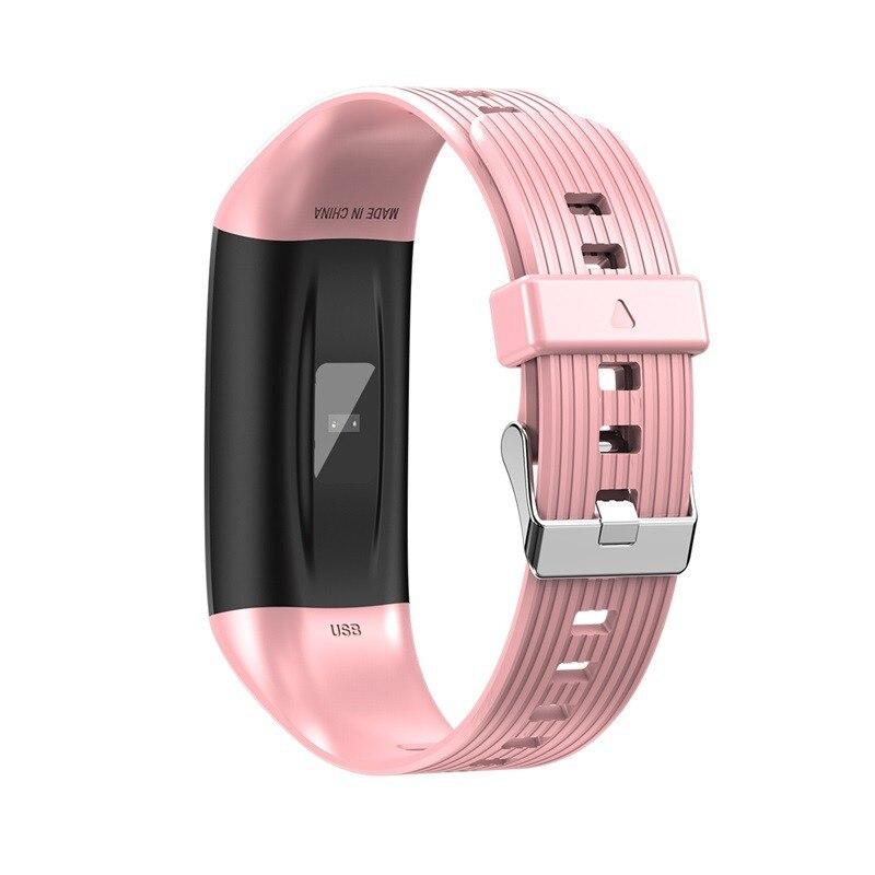 H573ecae45e3f407ca168b7a36b8efdd8s R12 Smart Band Bracelet Fitness Bracelet with Pressure Measurement Health Wristband Pedometer Heart Rate Monitor Cardio Bracelet