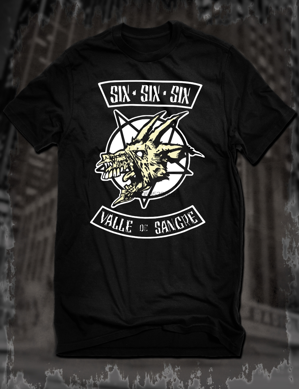 Hell Hope Horrible Mens Skull T-Shirt Biker Tattoo Motorbike Gothic Steampunk
