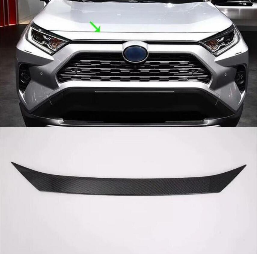 ABS Chrome Front Center Grill Grille Cover Trim 1pcs For Toyota RAV4 2019-2020