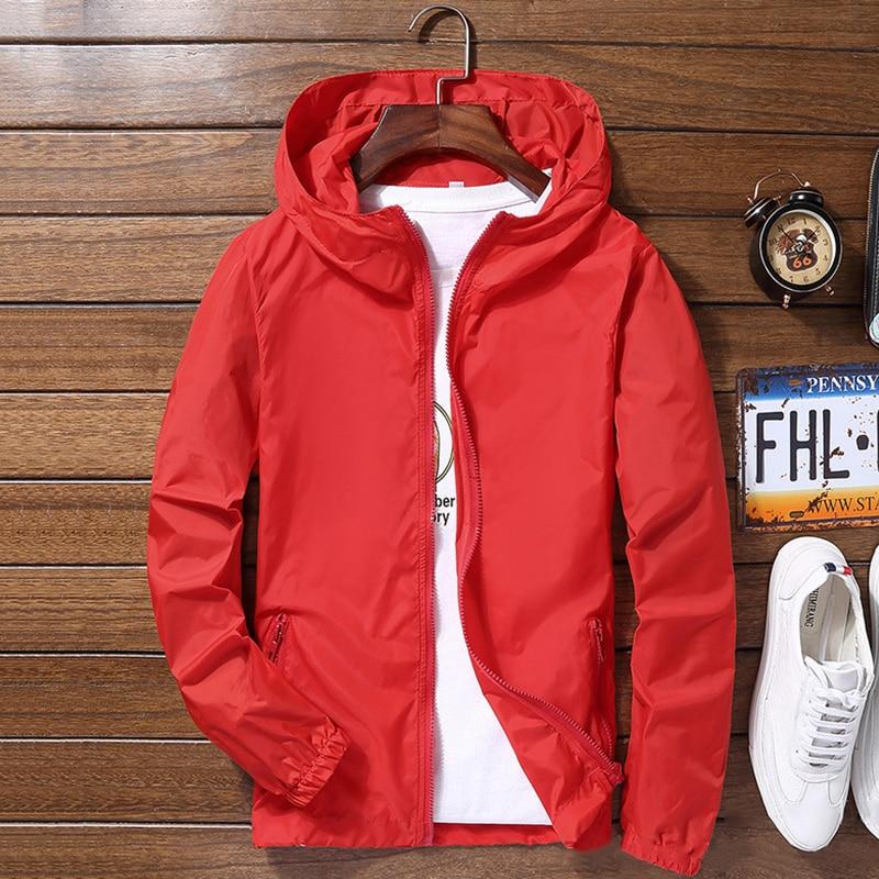 Newly Men Waterproof Wind Breaker Coat Zipper Hoodie Jacket Quick Drying Sport Outwear Northface Trench