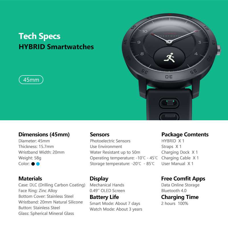 NEW Zeblaze Hybrid Smartwatch Heart Rate Blood Pressure Monitor Smart Watch Exercise Tracking Sleep Tracking Smart Notifications 5