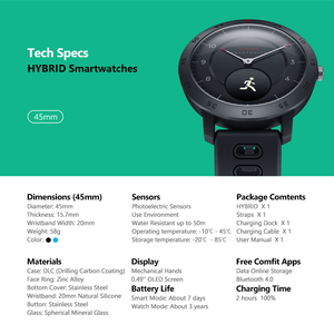 Image 5 - Zeblaze Hybrid Smartwatch di Frequenza Cardiaca Monitor di Pressione Sanguigna Orologio Intelligente Esercizio di Inseguimento Sonno Inseguimento Intelligente Le Notifiche