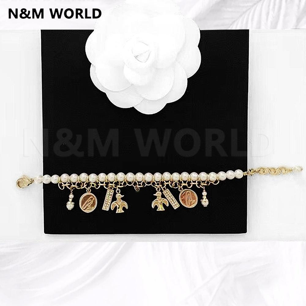 2019 брендовый браслет ювелирные аксессуары бирка кисточкой жемчужный браслет новый дизайн красивый свадебный подарок для девушек женщин