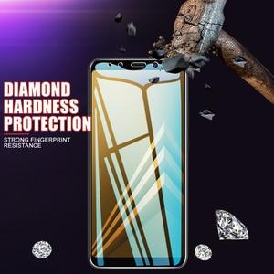 Image 4 - 3Pcs מזג מגן זכוכית לסמסונג גלקסי A6 A8 J4 J6 בתוספת 2018 מסך מגן זכוכית סמסונג A5 A7 a9 J2 J8 2018 זכוכית