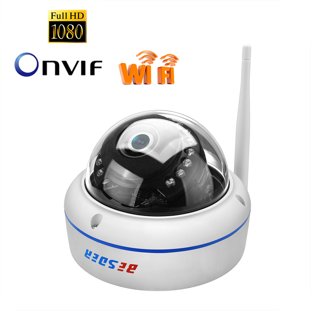 Smart Camera Vandal-proof 1080P HD IP Camera WiFi Motion-Detection Alert Dome Security Baby Sleeping Monitors Night Vision