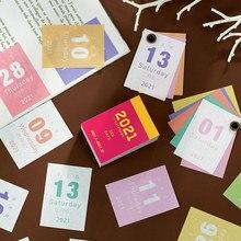 365 dias mini calendário anual vento retro pequeno calendário colagem decoração material diário adesivos escola suprimentos