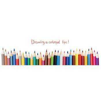 Rodapié zócalo colorido extraíble pegatinas de pared niños decoración en mural para salón
