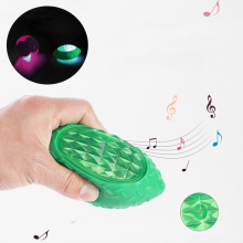 Dog Chew Toy Bite-resistant Pet Molar Sounding Vinyl Glowing Flash Ball Puppy Interactive Vocal Teething Biting