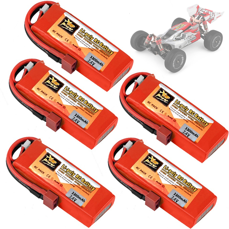 Original wltoys 144001 carro 2s 7.4 v 3300mah lipo bateria t plug para wltoys 1/14 144001 rc carro barco lipo bateria 1-5 pces
