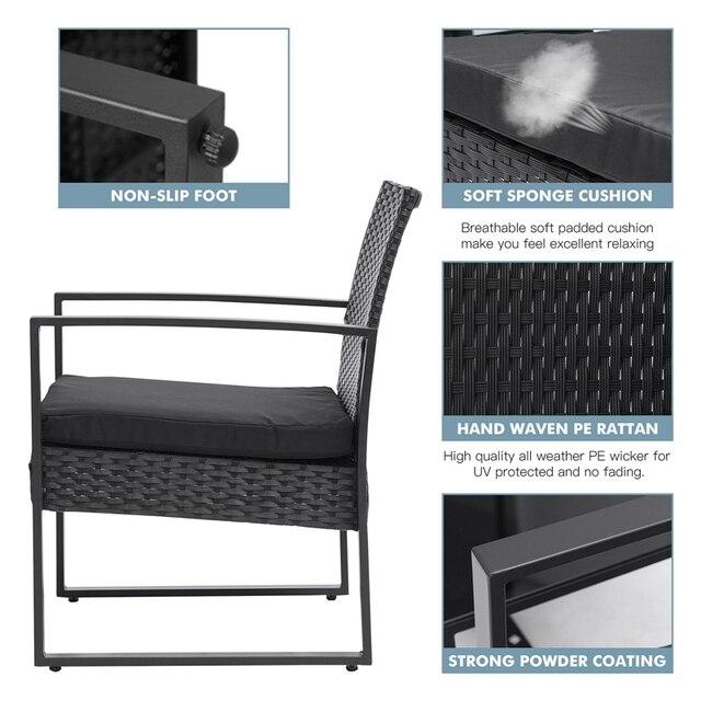 3 IN I 2 Patio Furniture Set  2