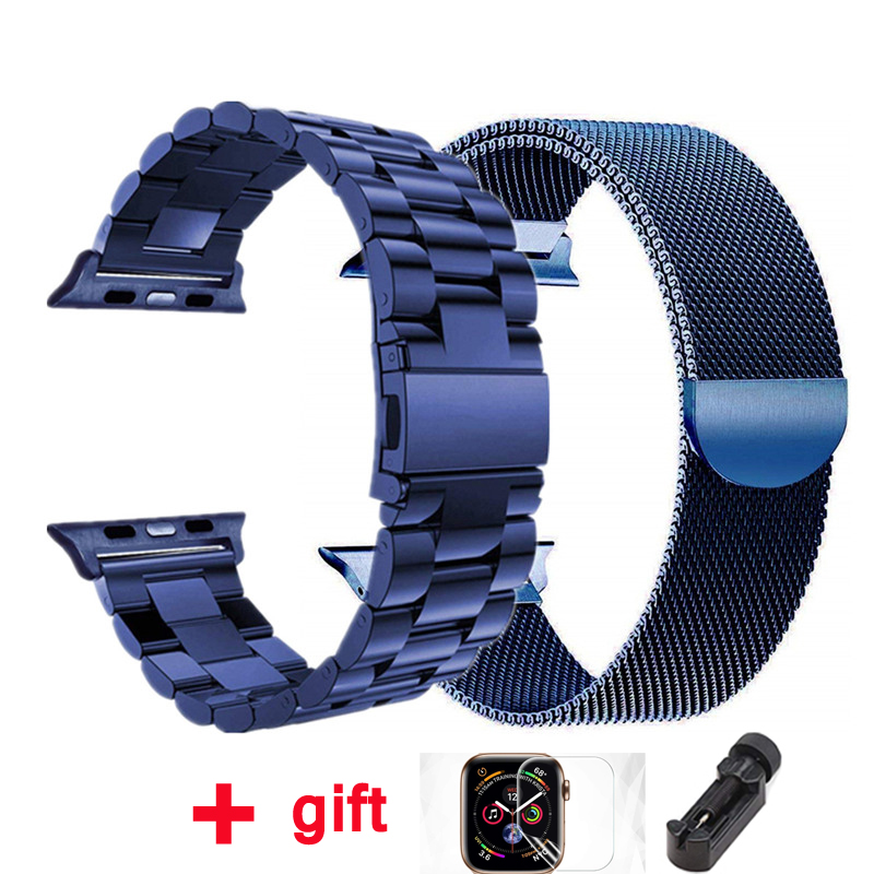 strap for Apple watch band 42mm 38mm Milanese Loop iWatch band 44 mm 40mm Stainless steel bracelet Apple watch Accessories