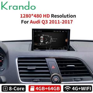 Android 9.0 4 + 64gb 8 8 kde krando para o leitor dos multimédios da navegação do rádio do carro dvd gps de audi q3 2011-2017 com bluetooth