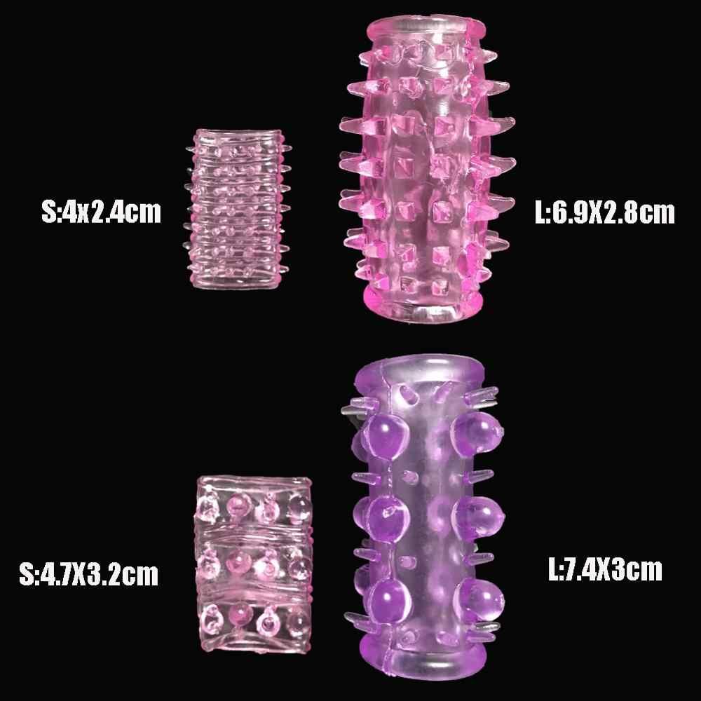 2 유형 조정 가능한 큰 수탉 반지 재사용 할 수있는 실리콘 긴 콘돔 남근 소매 지연 사정 시간 남자를위한 지속적인 성 장난감