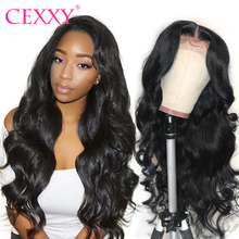 CEXXY 360 Lace Frontal Wig Pre Plucked With Baby Hair Brazilian Body Wave Lace Front Human Hair Wigs 150 Density Full Lace wig