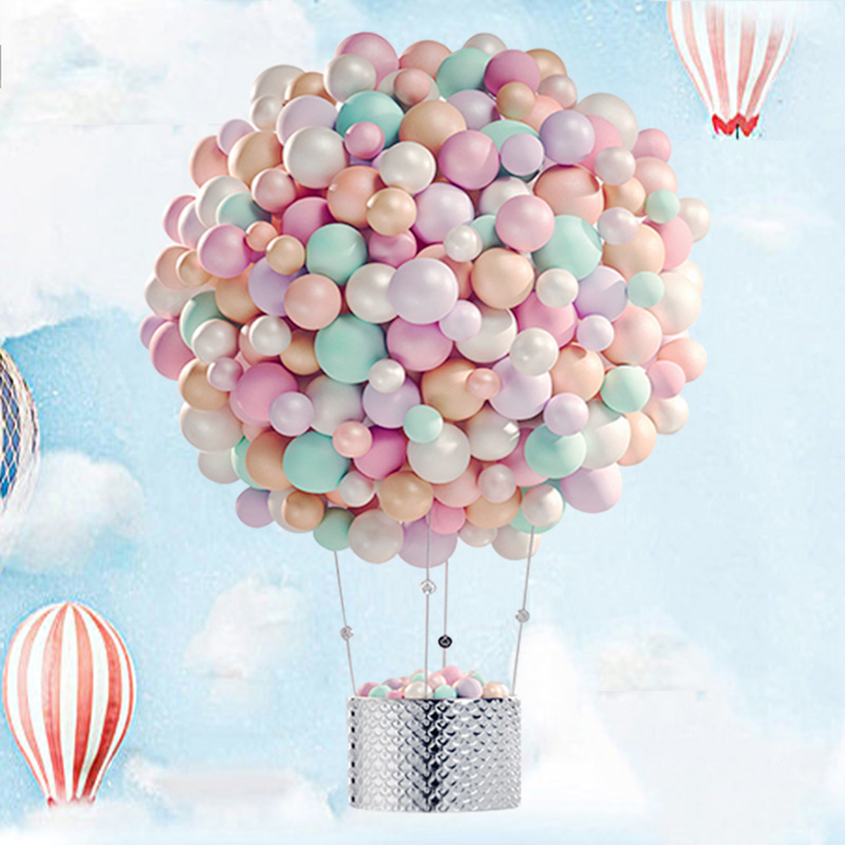 Wholesale 100 Pcs / Lot Latex Round Balloons Thicken 10 Inch 2.3g Wedding Birthday Party Supplies Kids Toys
