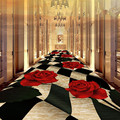 Креативный принт розы 3D ковры для гостиной спальни области кухонные Половики напольный коврик Домашний Коврик для прихожей коридора отеля ...