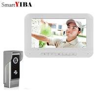 """Güvenlik ve Koruma'ten Video Interkom'de SmartYIBA 7 """"renkli LCD kablolu görüntülü kapı zili kapı telefonu gece görüş 700TVL kamera görsel interkom ev Videophones interkom"""