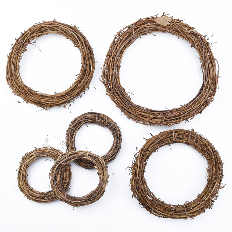10/15/20cm Artificial Flowers Leaf Vine Rattan Frame Wreaths Christmas Decorations For Home DIY Handmade Door Hanging Wedding