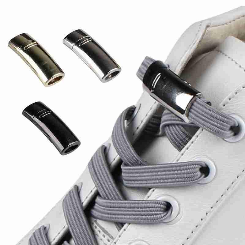 1 Pair Fashion Magnetic Shoelaces Unisex Flat Sneakers Shoelace Quick No Tie Shoe Laces Shoe Lazy Laces Strings Wholesale