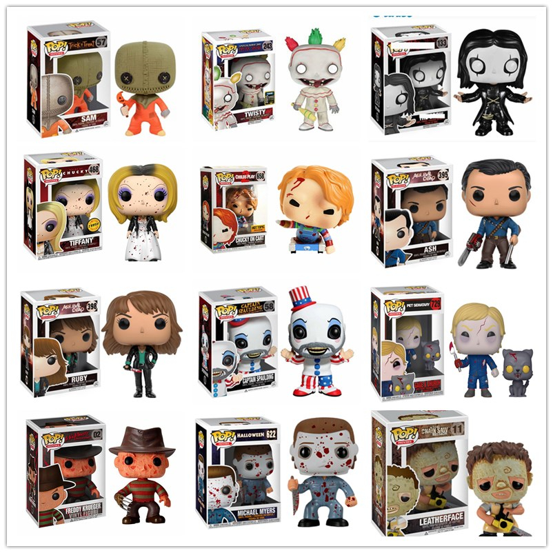 Funko Thriller Movie Child's Play Chucky Halloween Michael The Evil Dead Action Figure Collection Model Toys Kids Birthday gift image