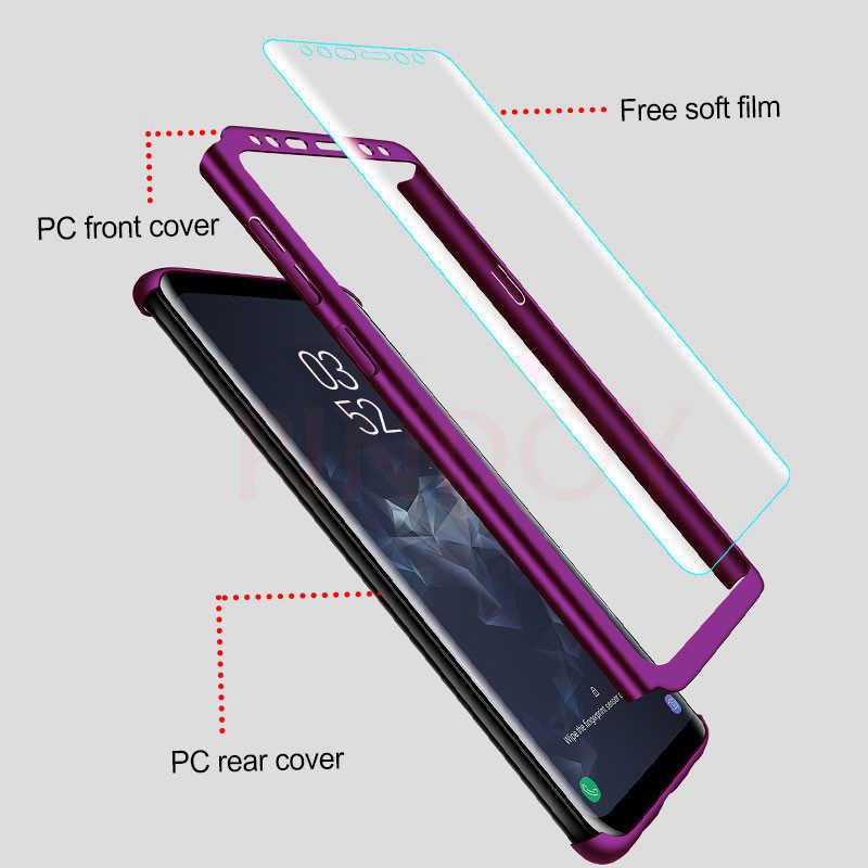 高級 360 フルカバー電話ケース銀河 S10 S9 S8 プラス S7 エッジ注 10 9 8 耐衝撃ケース S10 プラス保護カバー