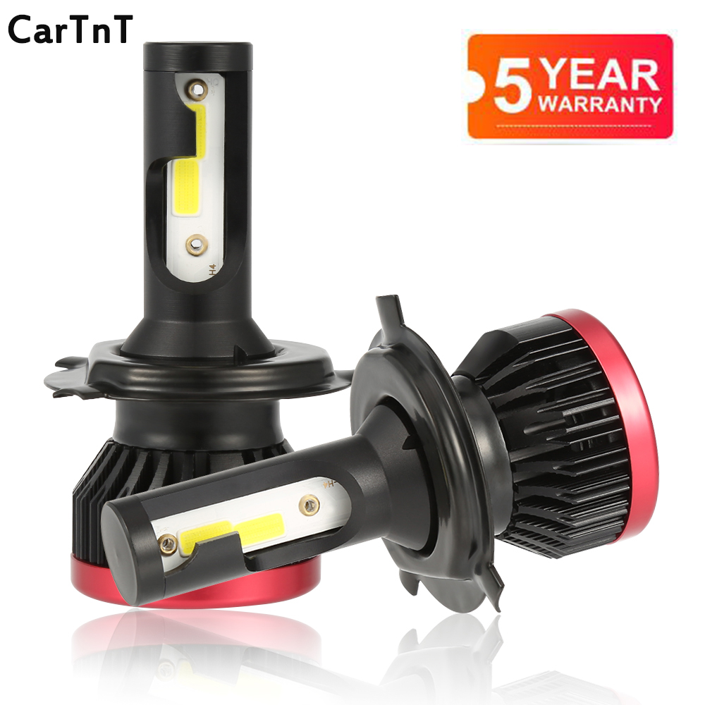CarTnT 2PCS Mini H7 <font><b>LED</b></font> Bulb H1 <font><b>H3</b></font> H4 <font><b>LED</b></font> H11 9005 HB3 9006 HB4 <font><b>LED</b></font> Bulb Headlight 100W 6500K <font><b>20000LM</b></font> Fog Lamp <font><b>LED</b></font> 24V Light car image