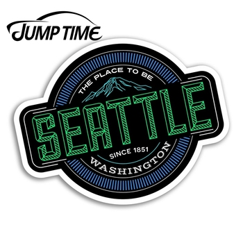 Jump Time for Seattle Vinyl Stickers Washington USA Sticker Laptop Luggage Truck Window Bumper Decal Waterproof Accessories image