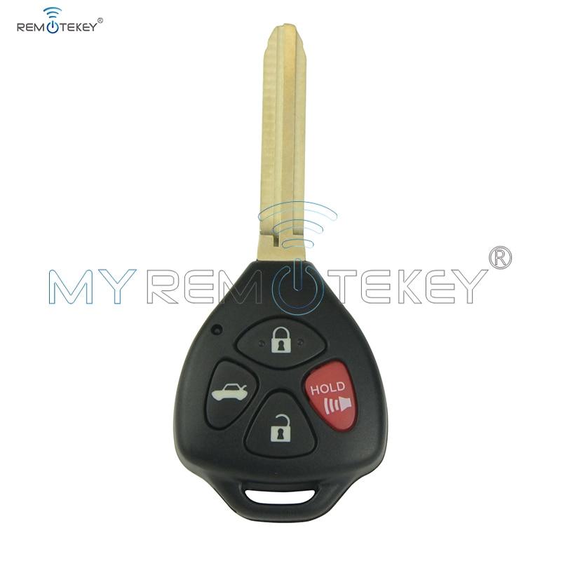 Купить автомобильный дистанционный ключ 4 кнопки чип toy43 4d67 для