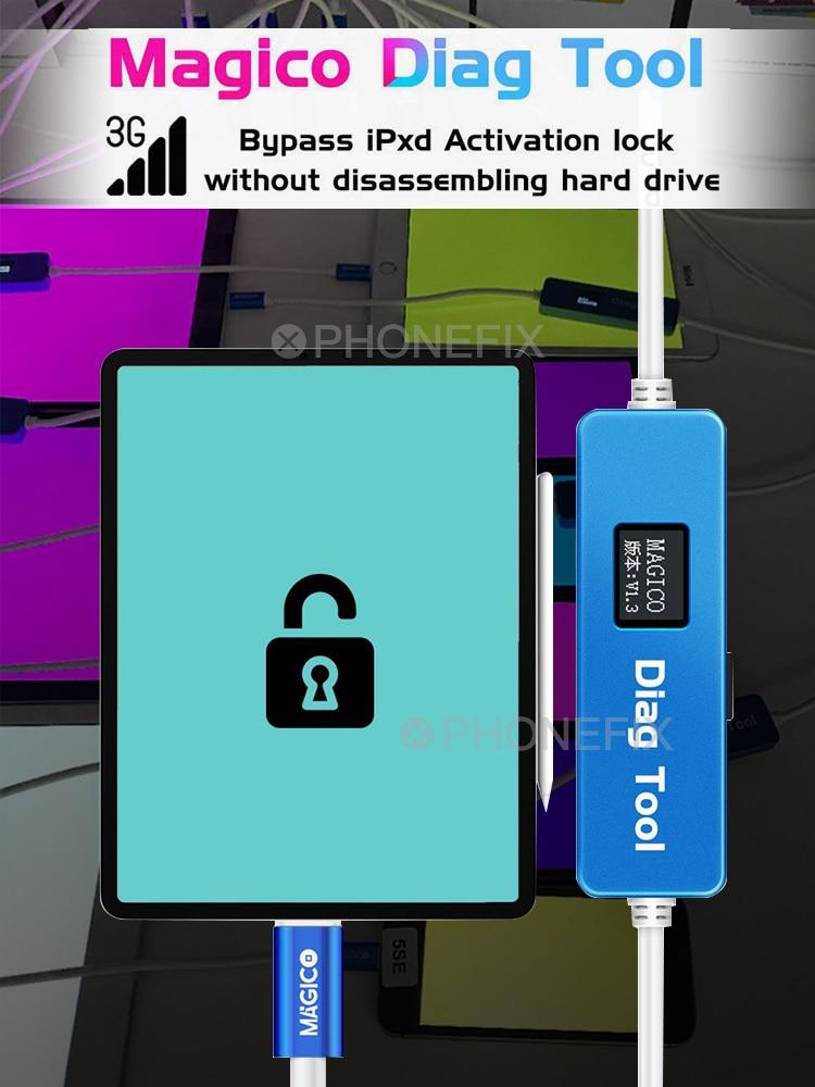 Magico Diag Dfu Voer Herramienta SE-X De Pantalla Púrpura Para Iphone Y Ipad Reemplazar El Chip De Disco Duro Uitpakken wifi Datos