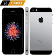 هاتف محمول Apple iPhone SE ثنائي النواة بدقة 12 ميجابكسل يعمل باللمس ببصمة الإصبع ومزود بذاكرة وصول عشوائي 2 جيجابايت وذاكرة قراءة فقط 16/64 جيجابايت وذاكرة قراءة فقط 4G LTE مجدد لهاتف iPhone se