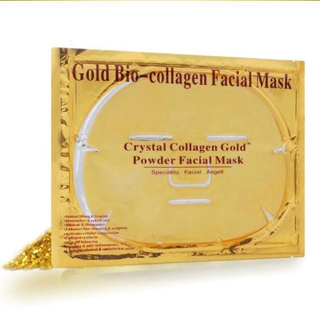 10Pcs 24K gold facial mask anti-aging Firming moisturizing organic Korean 24k gold face collagen crystal facial mask skin care