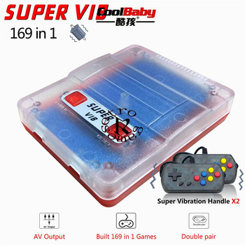 Retro games Mini handheld game console built in 169 games Super VIB portable TV game console dual gampad handheld game player