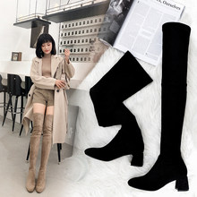 Women Genuine Leather Boots zapatos de mujer Sheep suede cowhide over-the-knee boots Natural leather shoes boots women(China)