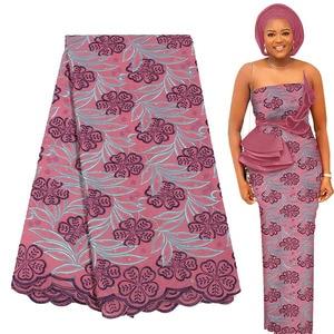 Image 1 - האחרון אפריקאי תחרת בד רך שוויצרית בד תחרה עם אבנים באיכות גבוהה Embroiderey כותנה שוויצרית וואל תחרה בשוויץ