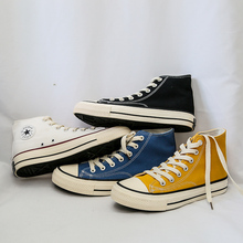 High-top Men Canvas Sneakers Classic Skate Yellow White Black Blue Color Casual Shoes Young Boy Lace-up Zapatillas Hombre