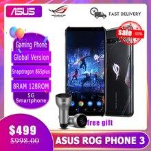 Смартфоны ASUS ROG Phone 3 глобальная версия 8RAM 128ROM Snapdragon 865 плюс 6000 мА/ч, 144 Гц 2SIM карты мобильный телефон