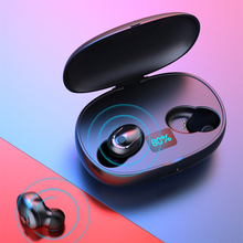 цена на Wireless Bluetooth 5.0 noise cancelling earphones Wireless charging in-ear earbuds IPX5 Sports Waterproof Microphones headsets