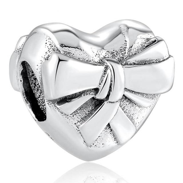 Authentique S925 bijoux à bricoler soi-même poisson bonne chance couronne vous aime gâteau arc maman breloque ajustement dame Bracelets