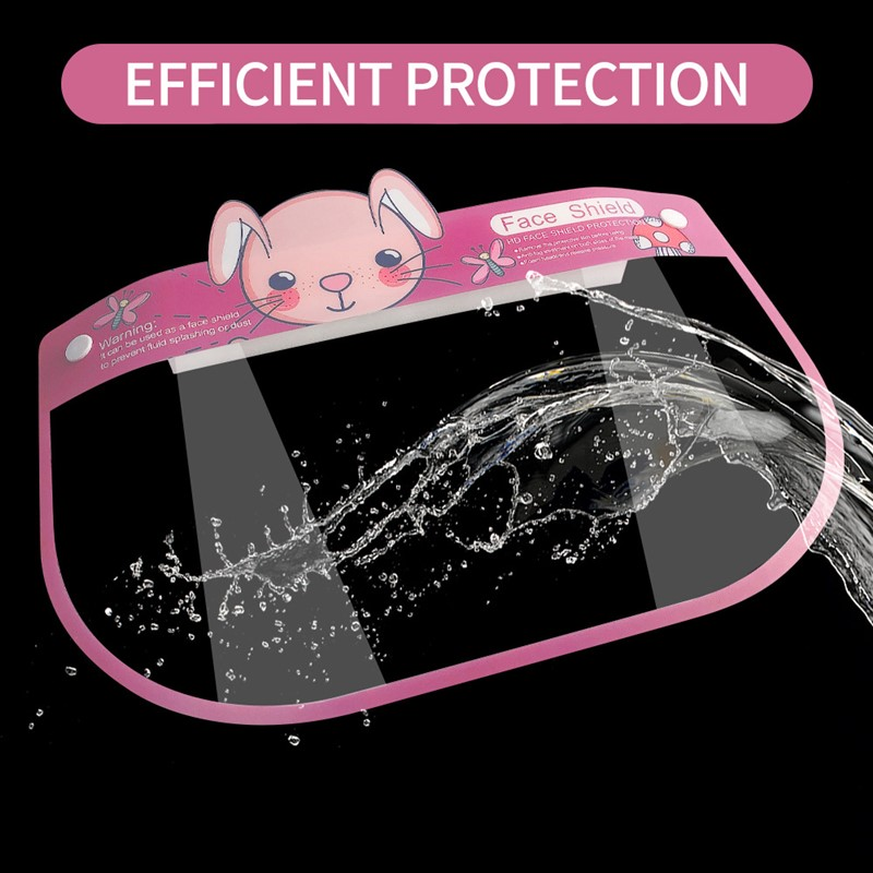 Face Shield Screen Virus Protection Mask Anti-dust Anti-droplet Spittle Face Covering Mask Bucket Anti Virus For Children Kids