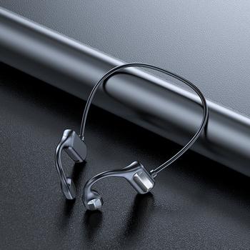 5 0 słuchawki Bluetooth sportowy bezprzewodowy zestaw słuchawkowy zaczep na ucho z przewodnictwem kostnym powietrza zasada Stereo HIFI słuchawki z mikrofonem tanie i dobre opinie LEVCOECAM Z pałąkiem na kark NONE Bone Conduction CN (pochodzenie) wireless Do kafejki internetowej instrukcja obsługi