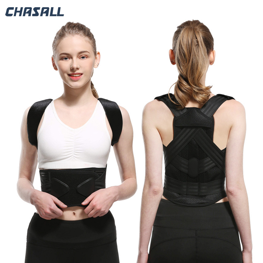 Chasall Posture Corrector Shoulder Back Pain Reliever Spine Straightener Orthopedic Brace Belt Straight Corset For Back Support