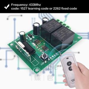 Image 5 - Controlador remoto de Motor de cortina eléctrica, tablero de receptor de relé rf DC 12V 10A y transmisor de largo alcance para Motor Tubular/garaje