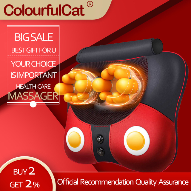 Electric Heating Massager Relief Neck Waist Shoulder Pain Mother Father Gift Body Massage Butterfly Pillow Home 328 Sale