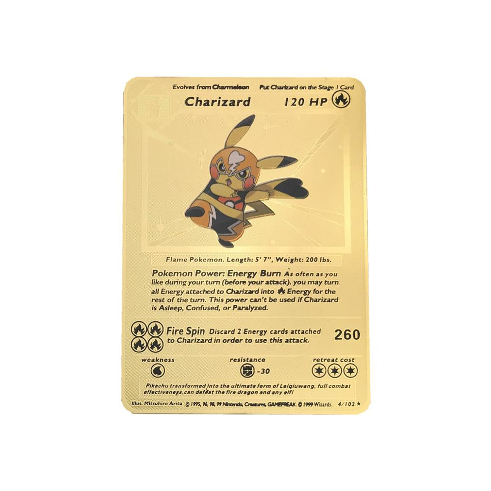 Image 5 - New Gold Metal Color Battle Carte  Game   Cards  Energy Charizard Collection Card Toys In Stocks-in Game Collection Cards from Toys & Hobbies