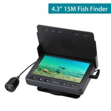 """4,"""" дюймов 15 м рыболокатор инфракрасный светодиодный с солнцезащитным козырьком подводная рыболовная камера для ледовой рыбалки"""