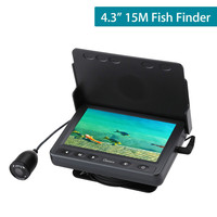 4.3 Inch 15M Fish Finder Infrared LED With Sun Visor Underwater Fishing Camera for ice fishing