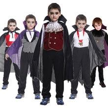 Umordenカーニバルパーティーハロウィーンキッズ子供カウントドラキュラゴシックヴァンパイア衣装ファンタジア王子吸血鬼ため男の子