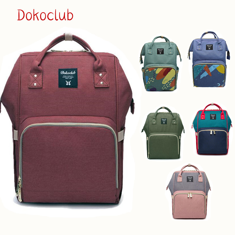 Upgrade Dokoclub Diaper Backpack Baby Care Storage Bag Waterproof Travel Mummy Large Capacity Daddy Nappy Bag