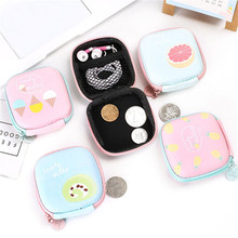 цена на Vogvigo Women Coin Purse Cartoon Cute Headset Bag Small Change Purse Wallet Pouch Bag for Kids Gift Mini Zipper Coin Storage Bag